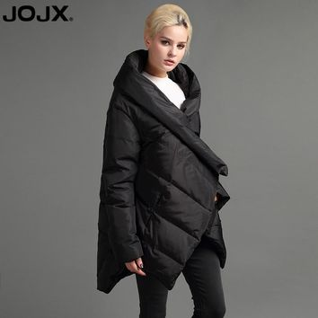 JOJX European Style 2017 New Design Winter Asymmetric Jacket women luxury Coat Winter Down Warm Parka High Quality Cotton Coat