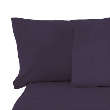 Cypress Linen Collection 1800 Series 6 Piece Eggplant Premium Sheet Sets