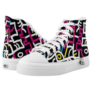 Mazed and Confused High Top Shoes Printed Shoes