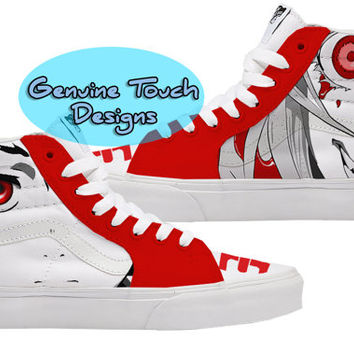 Hand Painted, Deadman Wonderland, Fanart shoes, Custom Vans, Birthday Gifts, Christmas Gifts, Art work anime shoes