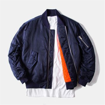 ca auguau Navy Blue Bomber Jackets