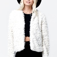Vans Hammersmith Faux Fur Jacket - Womens Jacket - White