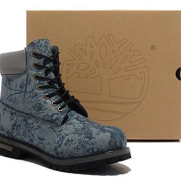 Timberland Icon 6-inch Premium Classic Zoo Blue Waterproof Boots