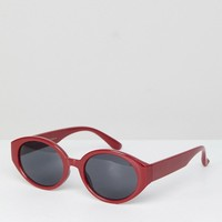 Stradivarius Oval Sunglasses at asos.com