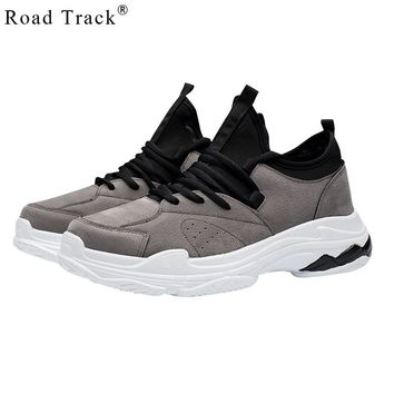 Road Track Spring Men Casual Shoes Sneakers Lace-up Mixed Colors Hard-Wearing Waterproof Dad Sneaker