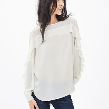 Banana Republic Womens Ruffle Front Blouse