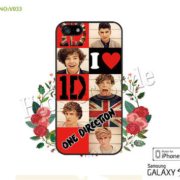 1D Phone Cases, iPhone 5/5S Case, iPhone 5C Case, iPhone 4/4S Case, one direction Galaxy S3 S4 S5 Note 2 Note 3 Case for iPhone-B033