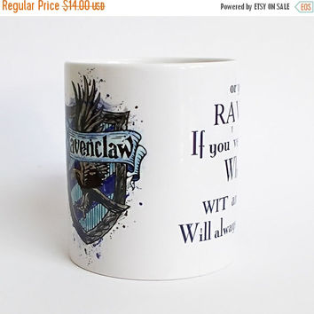 ON SALE 20% OFF Harry Potter Ravenclaw crest 3 Mug  Ravenclaw crest quote Watercolor Art Cup Coffee Mug  Ravenclaw crest Cup Coffee Cup Harr