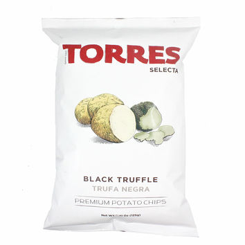 Torres Black Truffle Potato Chips, Large Pack, 4.4 oz