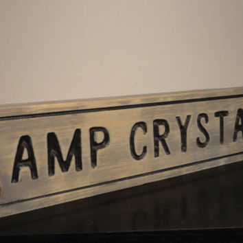 Camp Crystal Lake | Trail Sign | Halloween Prop slasher