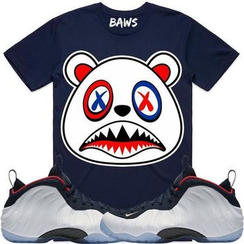 USA BAWS Navy Blue Sneaker Tees Shirt - Olympic Foamposites