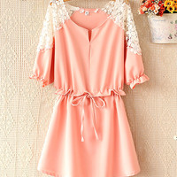 Spring and summer fashion bat sleeve dress
