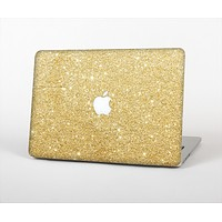 "The Gold Glitter Ultra Metallic Skin Set for the Apple MacBook Pro 13"" with Retina Display"