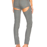 Y Project Back Cut Skinny in Grey | FWRD