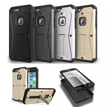 Armor Dirt Shock WaterProof Metal Aluminum Stand Cell Phone Case For Smartphone
