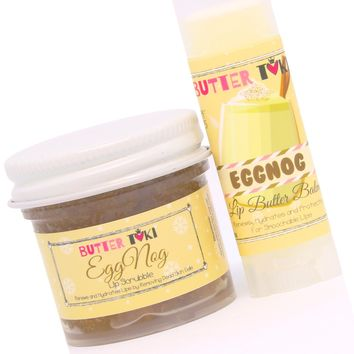 EGG NOG Lip Scrubbie and Lip Balm with SPF 15 Combo Holiday Collection 2017