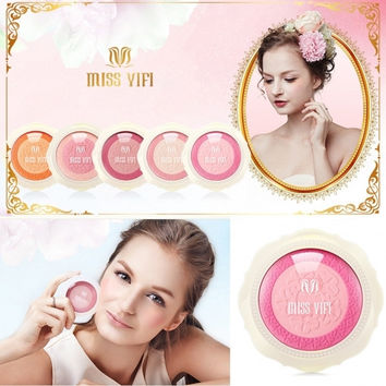 MISS YIFI Matte Makeup Double Color Blusher Cosmetic Power Palette Natural Long-Lasting