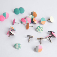 Hand Painted Thumbtacks | Pastel