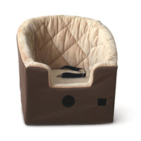K&H Tan & Brown Bucket Booster Pet Car Seat