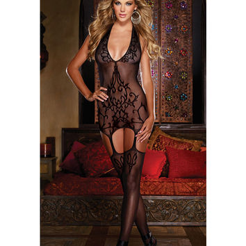 Ladies Body Female Underwear Black Sleepwear Sexy Pyjamas Lingerie = 4804282884