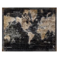 Golden World Map - Glass Coat | Destinations & Cityscapes | Art Themes | Art | Z Gallerie