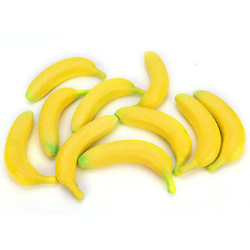 Stress Relief Reliever Squidgy Banana Fun Joke Novelty  Fruit Toy Tension HU