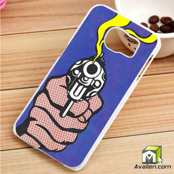 Roy Lichtenstein - Gun in America Samsung Galaxy S6 Edge case by Avallen