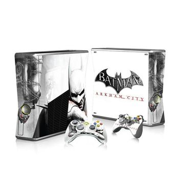 Top Sale Batman Game Decal Skin Stickers For Xbox 360 Slim Console+ 2 Controllers Skin Cover For xbox Slim vinyls sticker