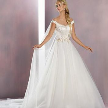 Alfred Angelo Disney Fairy Tale Bridal 259 Elsa Sample Sale Wedding Dress