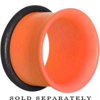 "1/2"" Orange Neon Coated Stainless Steel Single Flare Tunnel Plug 