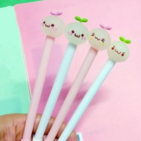 4 Pieces Lytwtw's Stationery Cute Bean Sprouts Pen Gel Pen School Fashion Office Kawaii Supply Handles Creative Gift plant