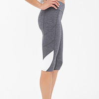 FOREVER 21 Reflective-Trimmed Performance Capris