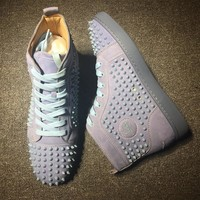 Cl Christian Louboutin Louis Spikes Style #1825 Sneakers Fashion Shoes - Best Deal Online