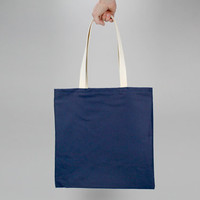 The Standard Tote // Navy Blue UNWAXED Canvas Tote Bag