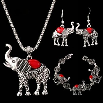 New Fashion Bohemian Elephant Necklace Set