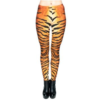 Tiger Fur Sexy Leggings