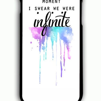 iPhone 6S Plus Case - Hard (PC) Cover with And In That Moment I Swear We Were Infinite The Perks of Being a Wallflower Plastic Case Design