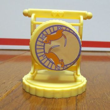 Vintage Fisher Price Doll House Village Pet Shop Hamster Wheel Toy