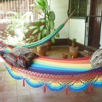 Rainbow magic Two Beautiful single size hammock by hamanica