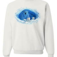 Polar Bear Cave By Royce Crewneck Sweatshirt