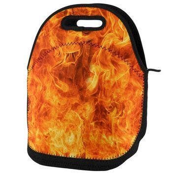 PEAPGQ9 Flames Lunch Tote Bag