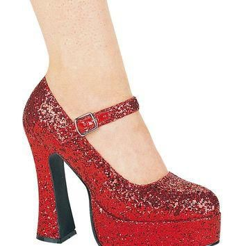 Ellie Shoes E-557-Eden-G 5 Chunky Heel Glitter Mary Jane