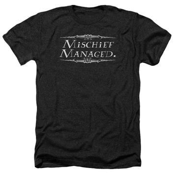 Harry Potter - Mischief Managed Adult Heather Officially Licensed T-Shirt Short Sleeve Shirt