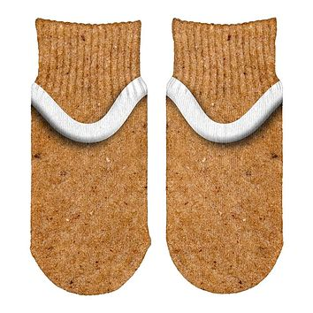 Gingerbread Man Costume All Over Toddler Ankle Socks