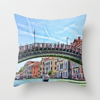 The Grand Canal Venice Italy Throw Pillow by Daphsam