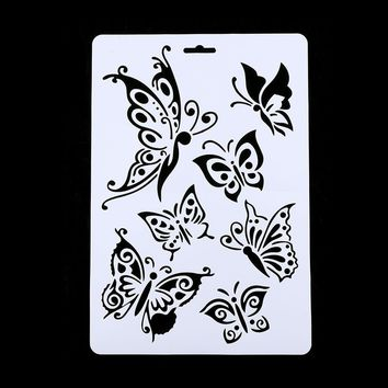 Butterfly Layering Stencils For Walls Painting Scrapbooking Stamps Album Decorative Embossing Paper Cards DIY Craft  Tools
