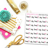 Hump Day Unicorn Planner Stickers (matte removable)