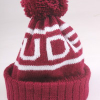 Burgundy Bobble Hat | Rudeboi Clothing