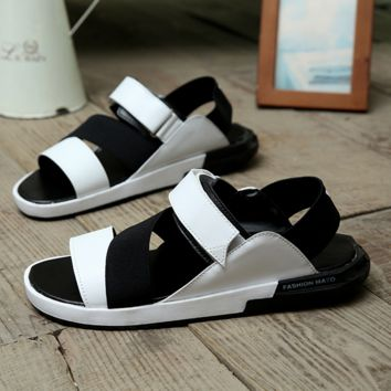 Fashion Leather Sandals Slippers