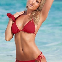 String Side Bikini Bottom in Red Hot | VENUS